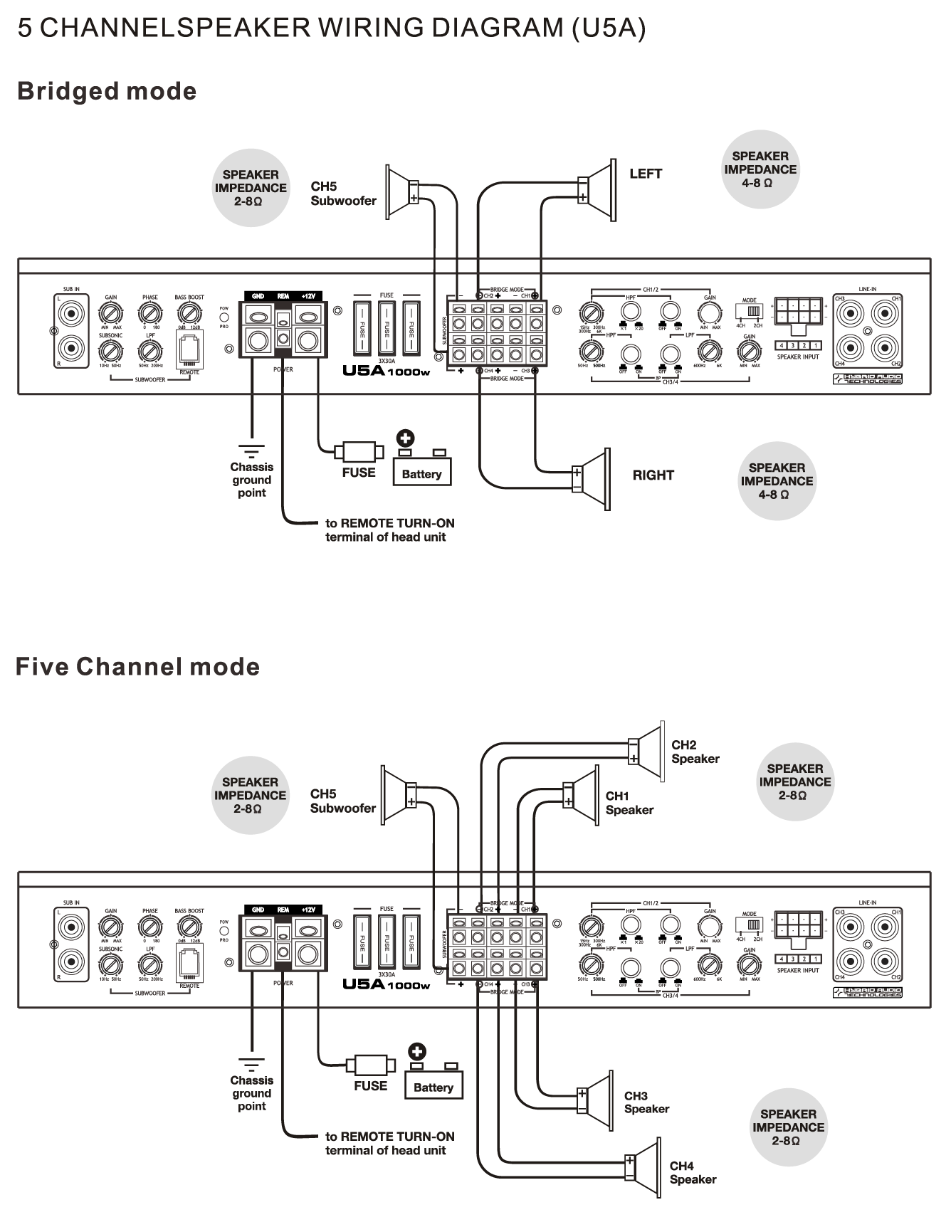 Amplifiers Hybrid Audio Technologies Speakers Wired In Parallel Recommended Amplifier Stable At 1 Ohm Mono Speaker Wiring Diagram